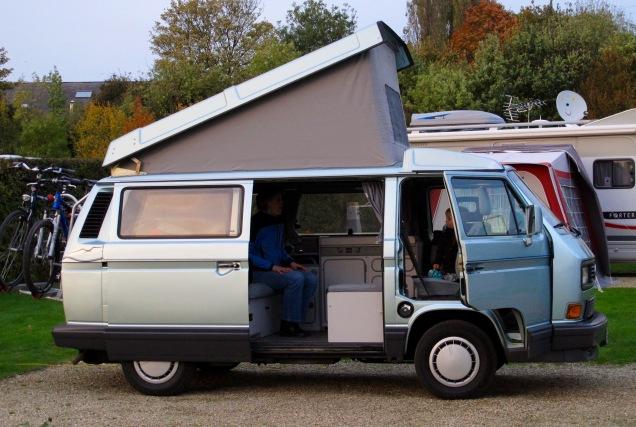 M'n tweede Atlantic op de camping in Canterbury
