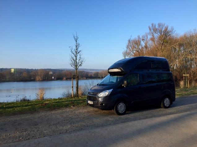 Na een kraakheldere winternacht in de buurt van Hildesheim bij -20. Het busje gaf geen krimp.