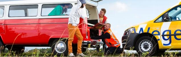 VW-busjes zijn niet altijd even betrouwbaar - de Wegenwacht gebruikt ze zelfs in hun reclamemateriaal...