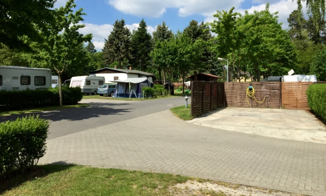 Modern camperservice-punt op DCC-camping Gatow