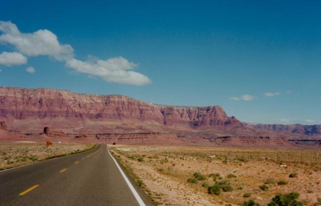 Onderweg naar Navajo Crossing, Arizona
