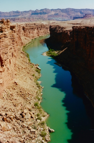 Marble Canyon, de kloof van de Colorado bij Navajo Crossing