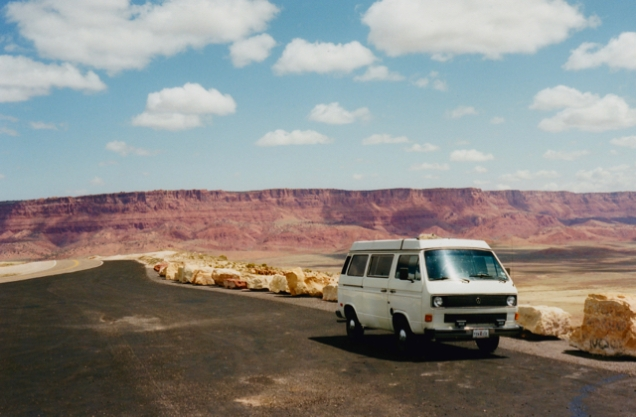 "Vanagon ""Chester W. Nimitz"" on US 89A, near Kanab, UT, 1999"